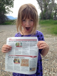 My daughter completely stoked by our topping the charts.