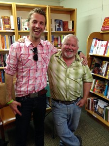 Sharing good times with the man himself, founder and owner of the Valley Bookstore.